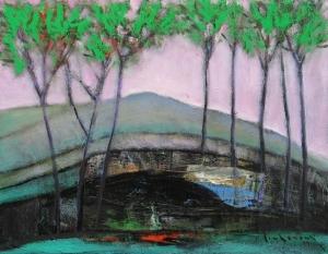 Hàng cây lá xanh