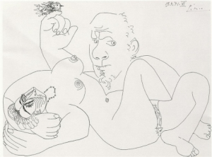 reclining_nude_with_man_and_bird-picasso