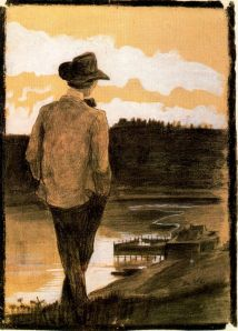 young_man_on_a_river_bank-umberto_boccioni